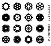 set of gear wheels  vector... | Shutterstock .eps vector #321411815