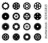 set of gear wheels  vector... | Shutterstock .eps vector #321411815