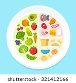 healthy diet infographics ... | Shutterstock .eps vector #321412166