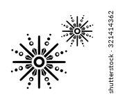 snowflake icon | Shutterstock .eps vector #321414362