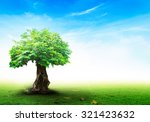 alone tree on eden garden for... | Shutterstock . vector #321423632