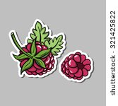 sticker with hand drawn... | Shutterstock .eps vector #321425822
