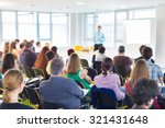 speakers giving a talk at... | Shutterstock . vector #321431648