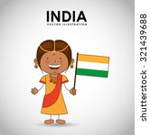 indian kid design  vector... | Shutterstock .eps vector #321439688