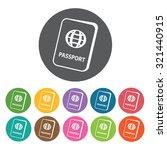 passport icon  hotel set.... | Shutterstock .eps vector #321440915