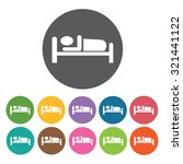 sleeping icon  hotel set.... | Shutterstock .eps vector #321441122