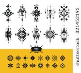 vector tribal elements with... | Shutterstock .eps vector #321452192