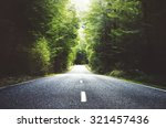 summer country road with trees... | Shutterstock . vector #321457436