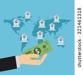 global economy design  vector...   Shutterstock .eps vector #321461318
