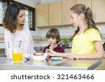 lovely mother and her children...   Shutterstock . vector #321463466