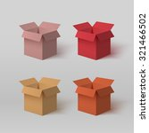 set of four open colorful boxes ... | Shutterstock .eps vector #321466502