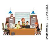 concept of the co working... | Shutterstock .eps vector #321468866