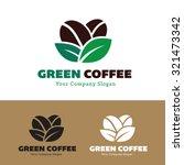 green coffee coffee logo vector ... | Shutterstock .eps vector #321473342