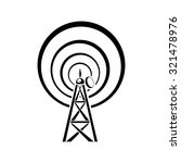 radio tower icon | Shutterstock .eps vector #321478976