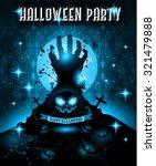 halloween night event flyer...   Shutterstock . vector #321479888