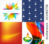 vector set of diwali holiday... | Shutterstock .eps vector #321483758