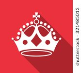 crown on red background. keep... | Shutterstock .eps vector #321485012