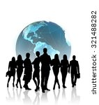 silhouettes of business people... | Shutterstock . vector #321488282