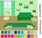 color in the interior for a...   Shutterstock .eps vector #321489905