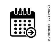 calendar next day icon | Shutterstock .eps vector #321498926