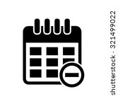 calendar with remove sign icon | Shutterstock .eps vector #321499022