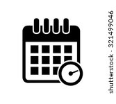 calendar appointment icon | Shutterstock .eps vector #321499046