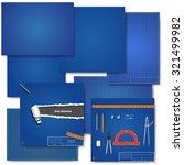 set blueprint backgrounds.... | Shutterstock .eps vector #321499982