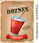 grunge and vintage drinks and... | Shutterstock .eps vector #321500312