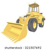 bulldozer 3d projection vector. | Shutterstock .eps vector #321507692