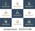 vector set of anniversary signs ... | Shutterstock .eps vector #321511148