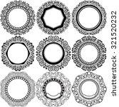 big set of round black frame...   Shutterstock .eps vector #321520232