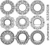 big set of round black frame...   Shutterstock .eps vector #321520238