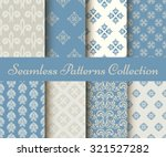 collection of seamless damask... | Shutterstock .eps vector #321527282