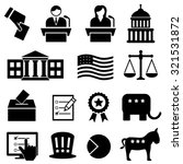 election and voting icon set | Shutterstock .eps vector #321531872