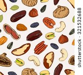 nuts  seeds and dry fruits ... | Shutterstock .eps vector #321532688