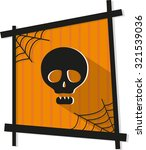 halloween vector icon with... | Shutterstock .eps vector #321539036