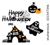 happy halloween message design... | Shutterstock .eps vector #321547346