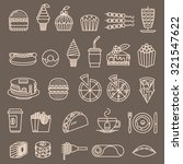 fast food line icons set  food... | Shutterstock .eps vector #321547622