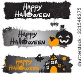 set of three halloween banners  ... | Shutterstock .eps vector #321548375
