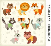 set of illustrations with... | Shutterstock .eps vector #321548432
