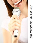 girl singing | Shutterstock . vector #32155087
