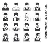 people icons | Shutterstock .eps vector #321554636