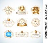 boutique luxury vintage  crests ... | Shutterstock .eps vector #321555962