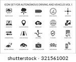 self driving and autonomous...   Shutterstock .eps vector #321561002
