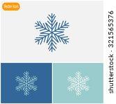 snowflake   vector icon. | Shutterstock .eps vector #321565376