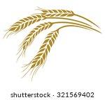 ears of wheat vector... | Shutterstock .eps vector #321569402