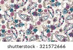 seamless paisley background... | Shutterstock .eps vector #321572666