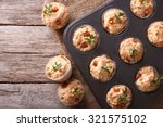 homemade muffins with ham and... | Shutterstock . vector #321575102