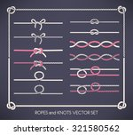 set of different vector ropes... | Shutterstock .eps vector #321580562