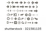 arrows of various shapes for... | Shutterstock . vector #321581135